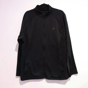 CHAMPION TRACK JACKET BLACK MENS large